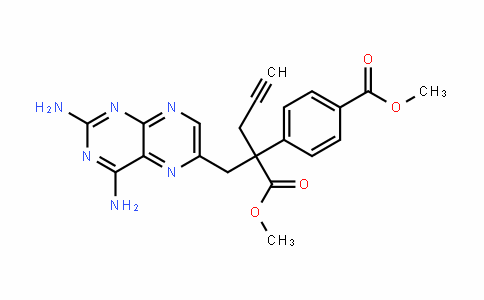 6-PteriDinepropanoic acid, 2,4-Diamino-α-[4-(methoxycarbonyl)phenyl]-α-2-propyn-1-yl-, methyl ester