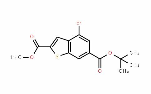 6-Tert-butyl 2-Methyl 4-broMobenzo[b]thiophene-2,6-Dicarboxylate