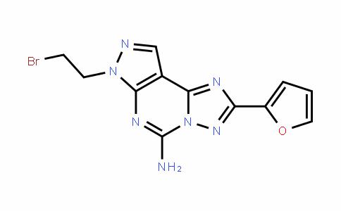 7H-Pyrazolo[4,3-e][1,2,4]triazolo[1,5-c]pyrimiDin-5-amine, 7-(2-bromoethyl)-2-(2-furanyl)-