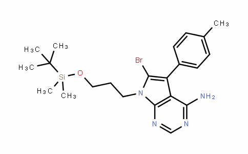 7H-Pyrrolo[2,3-D]pyrimiDin-4-amine, 6-bromo-7-[3-[[(1,1-Dimethylethyl)Dimethylsilyl]oxy]propyl]-5-(4-methylphenyl)-