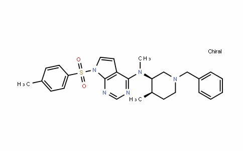 7H-Pyrrolo[2,3-D]pyrimiDin-4-amine, N-methyl-N-[(3R,4R)-4-methyl-1-(phenylmethyl)-3-piperiDinyl]-7-[(4-methylphenyl)sulfonyl]-