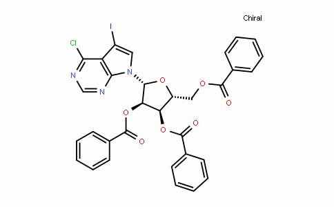 7H-Pyrrolo[2,3-D]pyrimiDine, 4-chloro-5-ioDo-7-(2,3,5-tri-O-benzoyl-β-D-ribofuranosyl)-