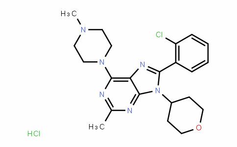 8-(2-chlorophenyl)-2-Methyl-6-(4-Methylpiperazin-1-yl)-9-(tetrahyDro-2H-pyran-4-yl)-9H-purine (hyDrochloriDe)