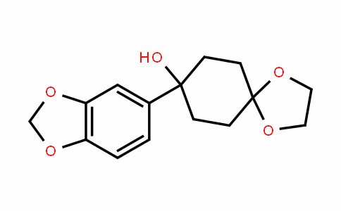 8-(benzo[D][1,3]Dioxol-5-yl)-1,4-Dioxaspiro[4.5]Decan-8-ol