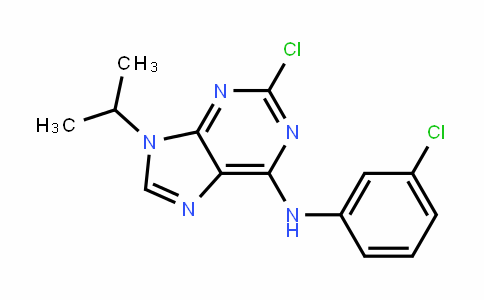 9H-Purin-6-amine, 2-chloro-N-(3-chlorophenyl)-9-(1-methylethyl)-