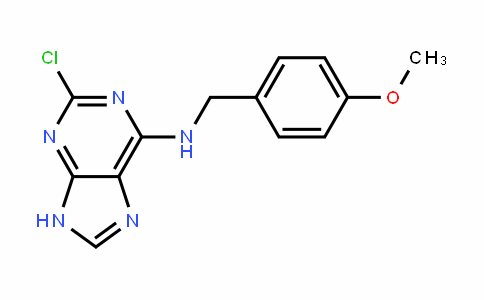 9H-Purin-6-amine, 2-chloro-N-[(4-methoxyphenyl)methyl]-