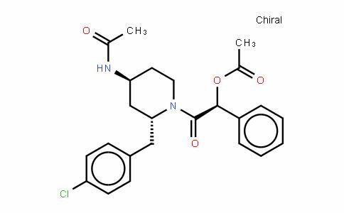 AcetamiDe, N-[1-[(acetyloxy)phenylacetyl]-2-[(4-chlorophenyl)methyl]-4-piperiDinyl]-, [2R-[1(S*),2α,4β]]- (9CI)