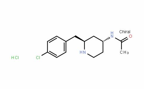 AcetamiDe, N-[2-[(4-chlorophenyl)methyl]-4-piperiDinyl]-, monohyDrochloriDe, trans- (9CI)