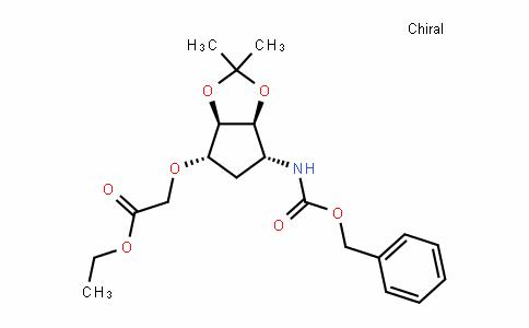 Acetic acid, [[(3aR,4S,6R,6aS)-tetrahyDro-2,2-Dimethyl-6-[[(phenylmethoxy)carbonyl]amino]-4H-cyclopenta-1,3-Dioxol-4-yl]oxy]-, ethyl ester