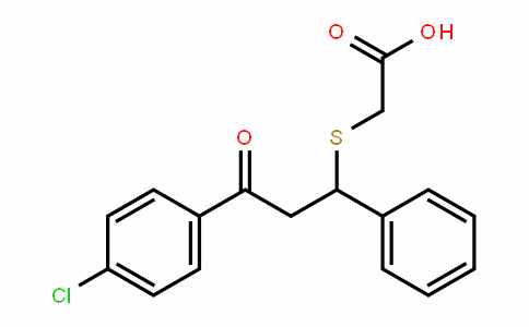 Acetic acid, 2-[[3-(4-chlorophenyl)-3-oxo-1-phenylpropyl]thio]-