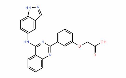 Acetic acid, 2-[3-[4-(1H-inDazol-5-ylamino)-2-quinazolinyl]phenoxy]-