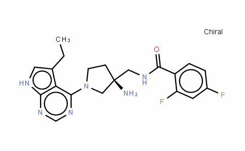 (S)-N-[[3-氨基-1-(5-乙基-7H-吡咯并[2,3-d]嘧啶-4-基)吡咯烷-3-基]甲基]-2,4-二氟苯甲酰胺