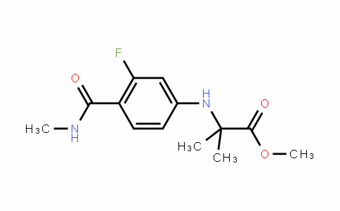 Alanine, N-[3-fluoro-4-[(methylamino)carbonyl]phenyl]-2-methyl-, methyl ester