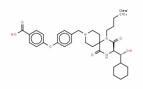 4-[4-[[(3R)-1-丁基-3-[(R)-环己基羟基甲基]-2,5-二氧代-1,4,9-三氮杂螺[5.5]十一烷-9-基]甲基]苯氧基]苯甲酸