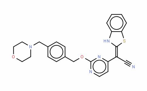 (1,3-苯并噻唑-2-基)[2-[4-[(吗啉-4-基)甲基]苄氧基]嘧啶-4-基]乙腈