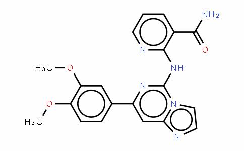 2-[[7-(3,4-二甲氧基苯基)咪唑并[1,2-C]嘧啶-5-基]氨基]-3-吡啶甲酰胺