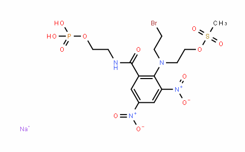 BenzaMiDe, 2-[(2-broMoethyl)[2-[(Methylsulfonyl)oxy]ethyl]aMino]-3,5-Dinitro-N-[2-(phosphonooxy)ethyl]-, MonosoDiuM salt (9CI)