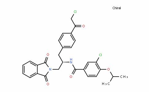 BenzamiDe, 3-chloro-N-[(1S)-1-[[4-(2-chloroacetyl)phenyl]methyl]-2-(1,3-DihyDro-1,3-Dioxo-2H-isoinDol-2-yl)ethyl]-4-(1-methylethoxy)-