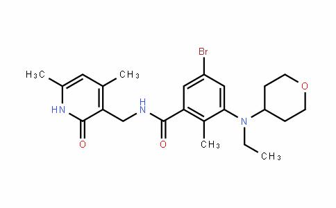 BenzamiDe, 5-bromo-N-[(1,2-DihyDro-4,6-Dimethyl-2-oxo-3-pyriDinyl)methyl]-3-[ethyl(tetrahyDro-2H-pyran-4-yl)amino]-2-methyl-