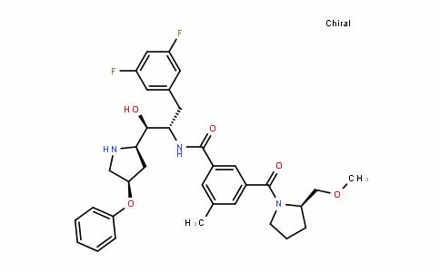 BenzaMiDe, N-[(1S,2R)-1-[(3,5-Difluorophenyl)Methyl]-2-hyDroxy-2-[(2R,4R)-4-phenoxy-2-pyrroliDinyl]ethyl]-3-[[(2R)-2-(MethoxyMethyl)-1-pyrroliDinyl]carbonyl]-5-Methyl-