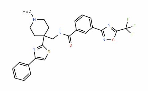 BenzaMiDe, N-[[1-Methyl-4-(4-phenyl-2-thiazolyl)-4-piperiDinyl]Methyl]-3-[5-(trifluoroMethyl)-1,2,4-oxaDiazol-3-yl]-