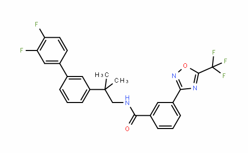 BenzaMiDe, N-[2-(3',4'-Difluoro[1,1'-biphenyl]-3-yl)-2-Methylpropyl]-3-[5-(trifluoroMethyl)-1,2,4-oxaDiazol-3-yl]-