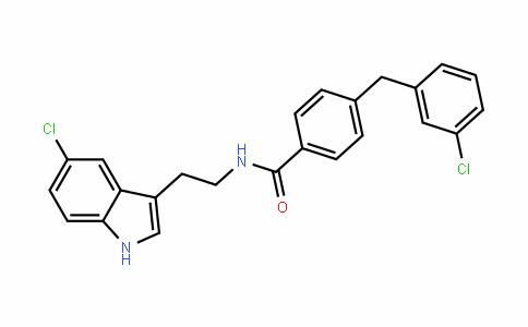 BenzaMiDe, N-[2-(5-chloro-1H-inDol-3-yl)ethyl]-4-[(3-chlorophenyl)Methyl]-