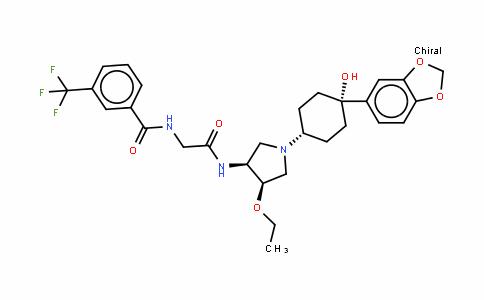 BenzamiDe, N-[2-[[(3R,4R)-1-[cis-4-(1,3-benzoDioxol-5-yl)-4-hyDroxycyclohexyl]-4-ethoxy-3-pyrroliDinyl]amino]-2-oxoethyl]-3-(trifluoromethyl)-, rel-