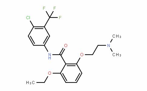 BenzaMiDe, N-[4-chloro-3-(trifluoroMethyl)phenyl]-2-[2-(DiMethylaMino)ethoxy]-6-ethoxy-
