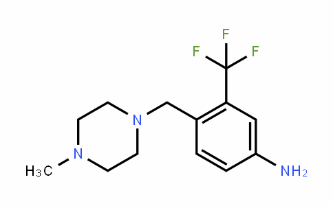 Benzenamine, 4-[(4-methyl-1-piperazinyl)methyl]-3-(trifluoromethyl)-