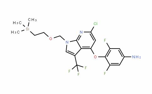 Benzenamine, 4-[[6-chloro-3-(trifluoromethyl)-1-[[2-(trimethylsilyl)ethoxy]methyl]-1H-pyrrolo[2,3-b]pyriDin-4-yl]oxy]-3,5-Difluoro-