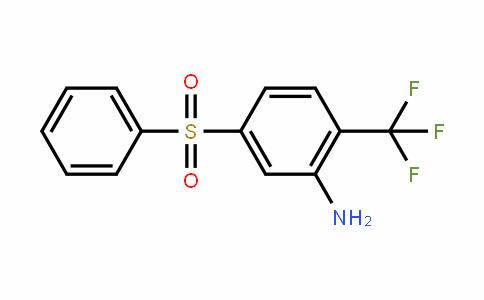 Benzenamine, 5-(phenylsulfonyl)-2-(trifluoromethyl)-