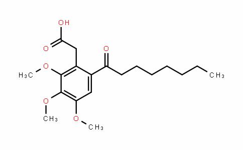 Benzeneacetic acid, 2,3,4-triMethoxy-6-(1-oxooctyl)-