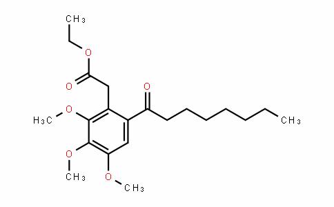 Benzeneacetic acid, 2,3,4-triMethoxy-6-(1-oxooctyl)-, ethyl ester