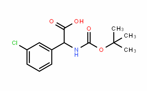 Benzeneacetic acid, 3-chloro-α-[[(1,1-Dimethylethoxy)carbonyl]amino]-