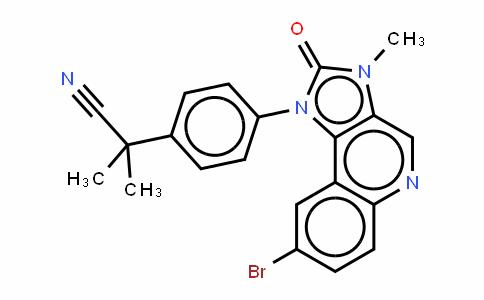 Benzeneacetonitrile, 4-(8-bromo-2,3-DihyDro-3-methyl-2-oxo-1H-imiDazo[4,5-c]quinolin-1-yl)-a,a-Dimethyl-