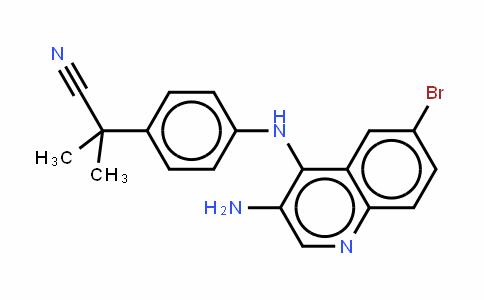 Benzeneacetonitrile, 4-[(3-amino-6-bromo-4-quinolinyl)amino]-a,a-Dimethyl-