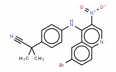 Benzeneacetonitrile, 4-[(6-bromo-3-nitro-4-quinolinyl)amino]-a,a-Dimethyl-