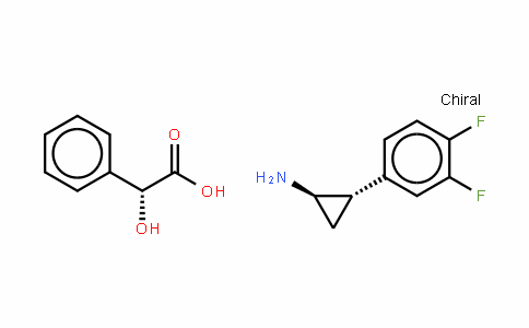 Benzeneacetic acid, α-hyDroxy-, (αR)-(1R,2S)-compD. with 2-(3,4-Difluorophenyl)cyclopropanamine (1:1)