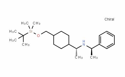 Benzenemethanamine, N-[(1R)-1-[4-[[[(1,1-Dimethylethyl)Dimethylsilyl]oxy]methyl]cyclohexyl]ethyl]-α-methyl-, (αR)-