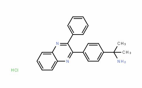 BenzeneMethanaMine, α,α-DiMethyl-4-(3-phenyl-2-quinoxalinyl)-, hyDrochloriDe (1:1)