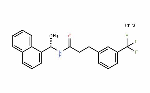 BenzenepropanamiDe, N-[(1S)-1-(1-naphthalenyl)ethyl]-3-(trifluoromethyl)-