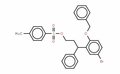 Benzenepropanol, 5-bromo-g-phenyl-2-(phenylmethoxy)-, 4-methylbenzenesulfonate (9CI)