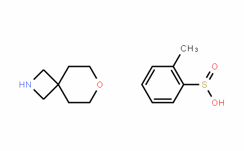 Benzenesulfinic acid, 2-Methyl-, coMpD. with 7-oxa-2-azaspiro[3.5]nonane (1:1)