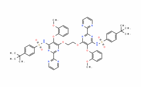 BenzenesulfonamiDe, N,N'-[1,2-ethaneDiylbis[oxy[5-(2-methoxyphenoxy)[2,2'-bipyrimiDine]-6,4-Diyl]]]bis[4-(1,1-Dimethylethyl)-