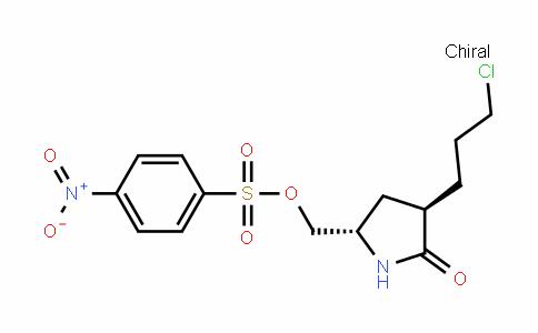 Benzenesulfonic acid, 4-nitro-, [(2S,4R)-4-(3-chloropropyl)-5-oxo-2-pyrroliDinyl]methyl ester