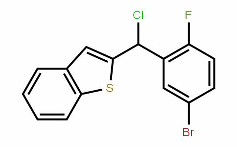 Benzo[b]thiophene, 2-[(5-broMo-2-fluorophenyl)chloroMethyl]-