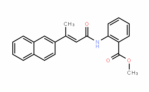Benzoic acid, 2-[[(2E)-3-(2-naphthalenyl)-1-oxo-2-buten-1-yl]amino]-, methyl ester