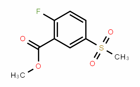 Benzoic acid, 2-fluoro-5-(methylsulfonyl)-, methyl ester