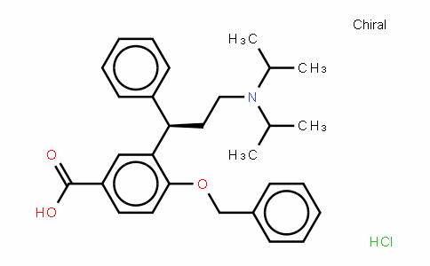 Benzoic acid, 3-[(1R)-3-[bis(1-methylethyl)amino]-1-phenylpropyl]-4-(phenylmethoxy)-, (HyDrochloriDe) (9CI)
